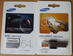 Samsung SD Card Pro / Samsung microSD Card Evo